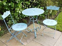 antique shabby metal table and chairs shabby chic antique blue