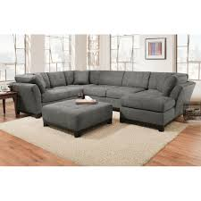 Straight Sectional Sofas Manhattan Sectional Sofa Loveseat U0026 Rsf Chaise Slate