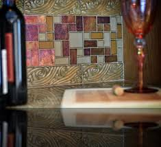 iridescent glass tile backsplash kitchen eclectic with backsplash