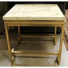marble top end table upscale consignment