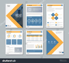 Report Cover Page Template Word by Stock Vector Company Profile Annual Report Brochure Fl Yer Layout