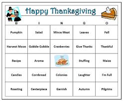 thanksgiving bingo 60 cards thanksgiving bingo