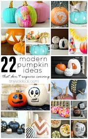 No Carve Pumpkin Decorating Ideas 22 Modern No Carve Pumpkin Ideas