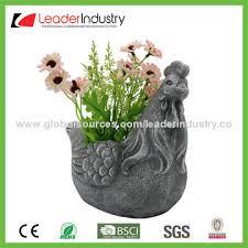 Outdoor Decor Statues China Garden Decorative Cement Frog Planters Statues Flower Pots