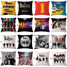decorative throw pillows the beatles pattern cushion cover for