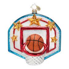 radko ornaments toys ornament slam dunk basketball