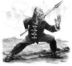 kung fu alien 2 illustration for hero games the art of andrew