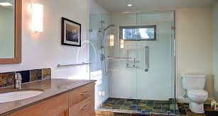 Modern Bathroom Remodel Palo Alto CA Acton Construction - Floor to ceiling cabinets for bathroom