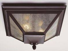 Outdoor Flush Mount Ceiling Light View The Murray Feiss Mf Ol3413 Craftsman Mission 2 Light