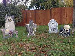 Homemade Halloween Props by Halloween Cemetery Decorations Tombstones Yard Haunt Halloween