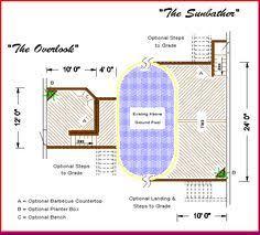 pool plans free free above ground pool deck plan backyard ideas pinterest
