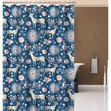 Animal Shower Curtains Japanese Blue Animal Print Small Shower Curtain