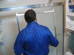 how to remove hard water stains from glass shower doors how to replace a shower door how tos diy