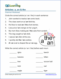 article worksheets for elementary printable u0026 free k5