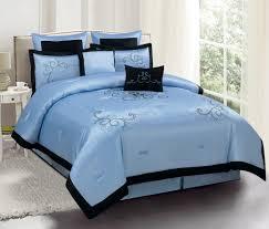 Blue King Size Comforter Sets Black White Chevron Zig Zag Twin Size Boy Kids Teen Bedding