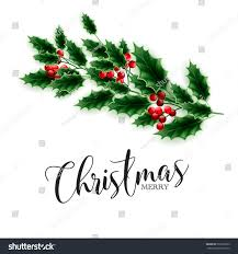 merry christmas party invitation greeting card stock vector