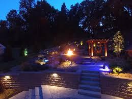 Backyard Bar And Grill Chantilly by Ultimate Outdoor Living U0026 Entertaining Backyard Paradise At Night