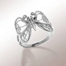 cincin perak jual cincin perak motif butterfly yuanasilver