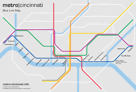 Gold Line Metro Map by Metro Cincinnati Blue Line