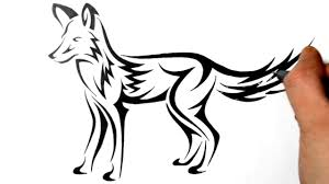 tatoo design tribal how to draw a fox tribal tattoo design real time youtube