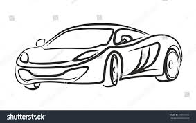 supercar drawing super car logo stock vector 248915593 shutterstock