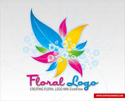 tutorial design logo corel draw x5 colorful floral logo design in corel draw