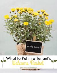 Welcome To Your New Home Gift Ideas To Put In A Tenant U0027s Welcome Basket