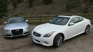 lexus or infiniti which is better 2013 audi a5 vs infiniti g37 coupe 0 60 mph mile high mashup