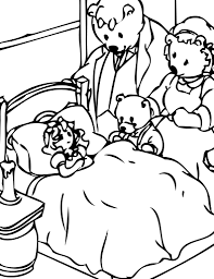 coloring pages goldilocks and the three bears coloring page