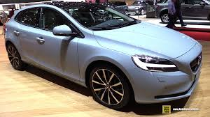 volvo hatchback interior 2017 volvo v40 exterior and interior walkaround debut at 2016