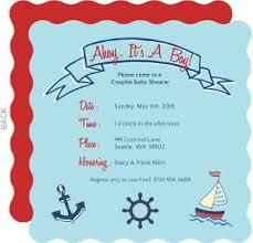 nautical baby shower invitations nautical baby shower invitations