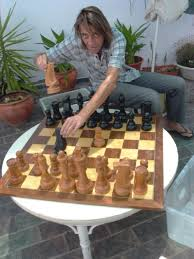 large wooden pieces temporary exhibit large welcome to the chess museum