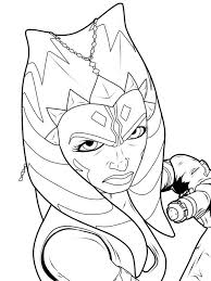color pages star wars black and white coloring pages star wars ahsoka google search