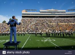 Folsom Field Map Conductor Leading Brass Marching Band At Colorado Buffaloes