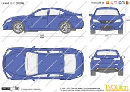 lexus is van the blueprints com vector drawing lexus is f