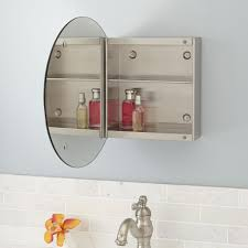 Signature Cabinet Hardware Medicine Cabinet Recessed Large Round Mirror Bathroom Cabinets