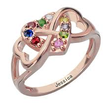 mothers infinity ring heart infinity ring personalized name ring infinity heart