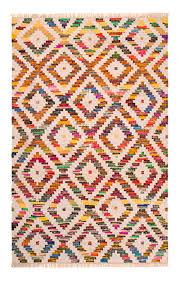 baku diamond multi colour kilim chindi rug 3 sizes available