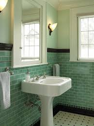 Vintage Powder Room Soulful Floating Candles Floating Shelf Granite Accent Wall