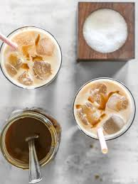 homemade salted caramel iced coffee budget bytes