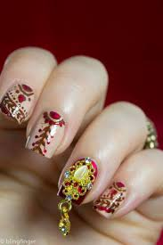 bright floral and digital printing nail art for brides