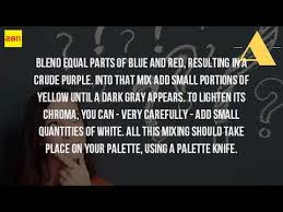 what colors do you use to make gray paint youtube