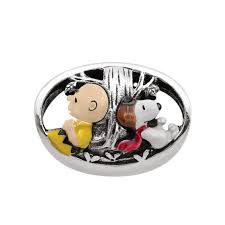snoopy tree persona sterling silver peanuts multi colour enamel