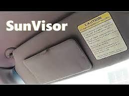 2003 toyota rav4 sun visor how to remove install sun visor