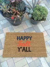 thanksgiving doormat happy fall y all doormat painted custom welcome mat