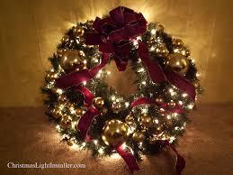 lighted wreath burgundy u0026 gold holiday decorations pinterest