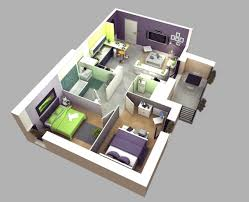 appartement 2 chambres 50 plans 3d d appartement avec 2 chambres appartements plans et