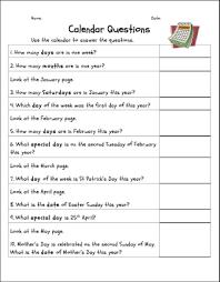 all worksheets grade 2 calendar worksheets printable