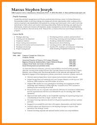 Human Resource Entry Level Resume Free Resume Templates Examples Summary Statement Of A Inside Human