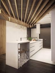 design white and wood kitchen accent contemporary multi level